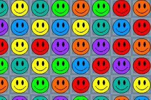 彩色笑脸对对碰小游戏