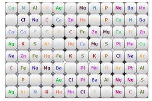 化学元素连连看小游戏